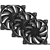 upHere 3-Pack Long Life Computer Case Fan 120mm Cooling Case Fan for Computer Cases Cooling-12BK3-3
