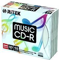 ナガセテクノサービス CD-RMU80.10PA RiTEK 音楽用CD-R 80分 10枚パック スリムケース入り