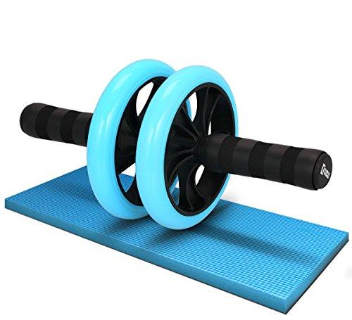 LICLI 腹筋ローラー 「簡単 筋トレ コンパクト 健康器具 」「安心の取扱説明書 製品保証あり」「静音 高耐久性 膝クッション付き」「 お腹 ダイエット アブローラー 」