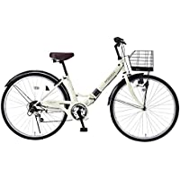 My Pallas(マイパラス) 折畳シティサイクル 26インチ 6段ギア V型フレーム&パンクしにくい自転車 M-507