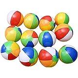 Yiwa 6個 20cm レインボーカラー インフレータブル ビーチボール キッズ ウォーターポロ 誕生日 新年 クリスマス おもちゃ
