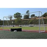 g3elite Pro 24 x 8 Regulation Soccer Goal & Carryバッグ、( 2 )最強ホワイトネット、ポータブル、2