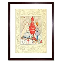 Painting Alice In Wonderland Red White Queen Framed Wall Art Print