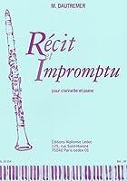 ドートルメール : 物語と即興曲 (クラリネット、ピアノ) ルデュック出版