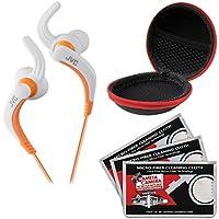 JVC ha-etx30Inner Ear防水ヘッドフォン(ホワイト) ケース& 3マイクロファイバーの布
