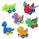 恐竜 車 プルバックカー おもちゃ 6個セット 子供 幼児玩具車 知育玩具 玩具慣性車 ミニカー キッズ 恐竜模型 子ども1歳2歳3歳 赤ちゃん 男の子向き 女の子向き プレゼント 安全無毒耐久高品質 ABS素材 … (6個セット)