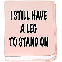 CafePress – I Still Have a脚to stand on、TシャツベビーBlan – スーパーソフトベビー毛布、新生児おくるみ ピンク 08626890746832E
