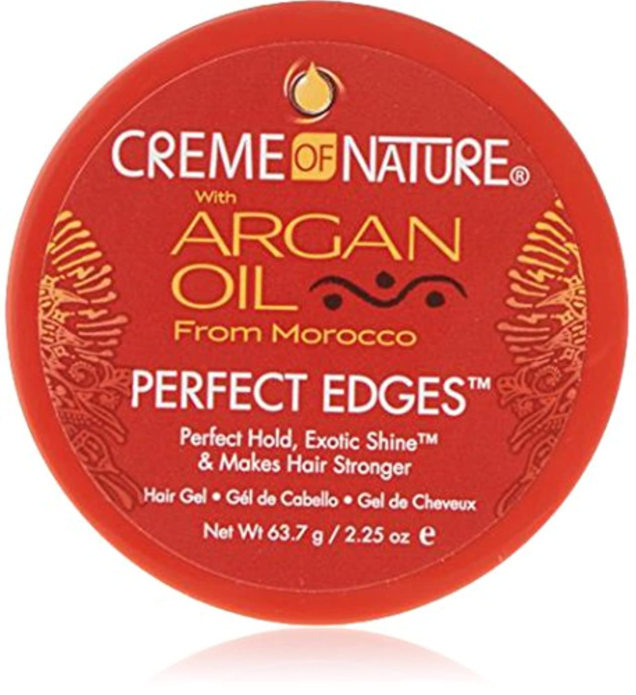 後世チャンピオンアシスタントCreme of Nature Argan Oil Perfect Edges Control 64g Jar (並行輸入品)