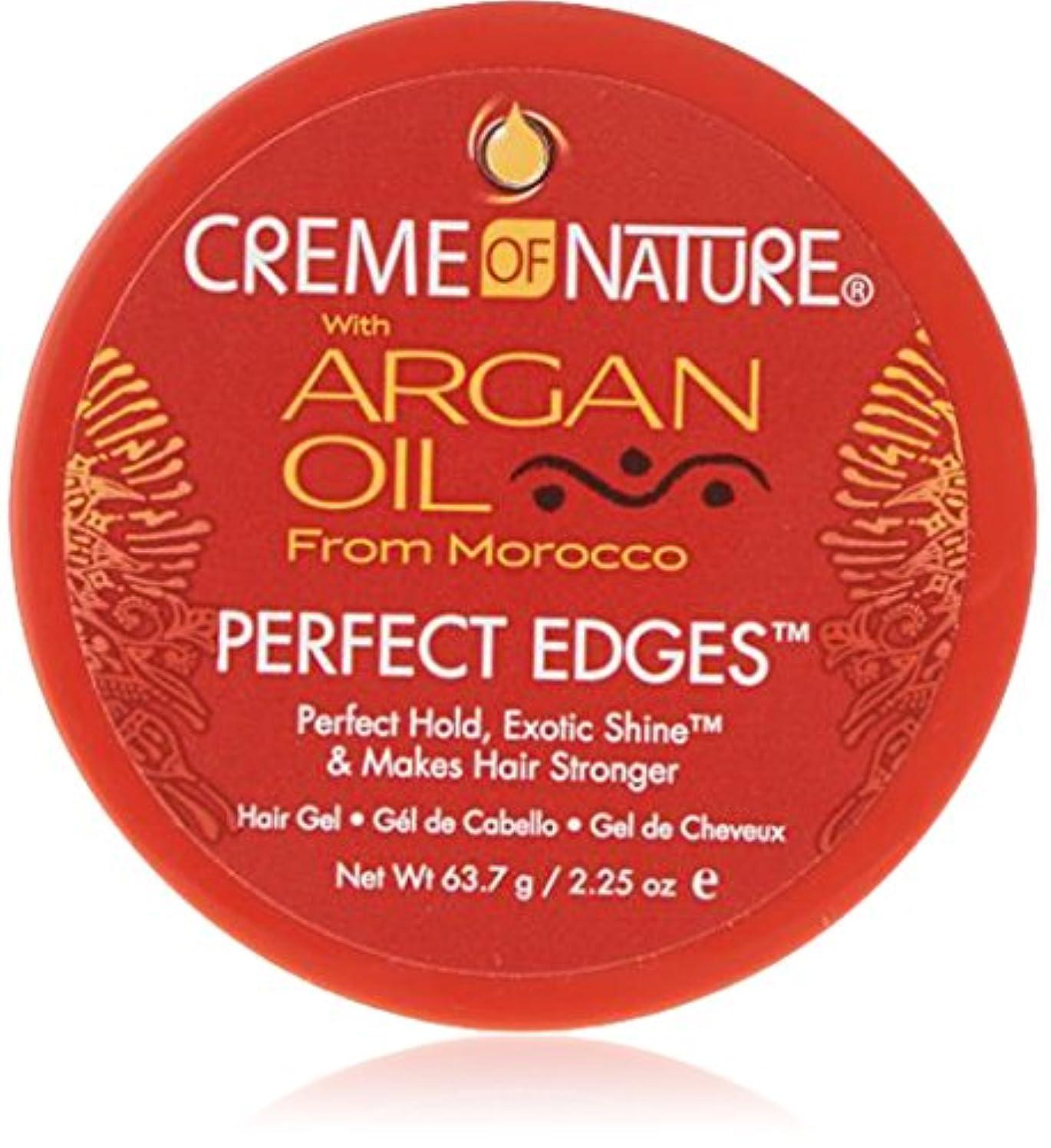 銀河遠足発揮するCreme of Nature Argan Oil Perfect Edges Control 64g Jar (並行輸入品)