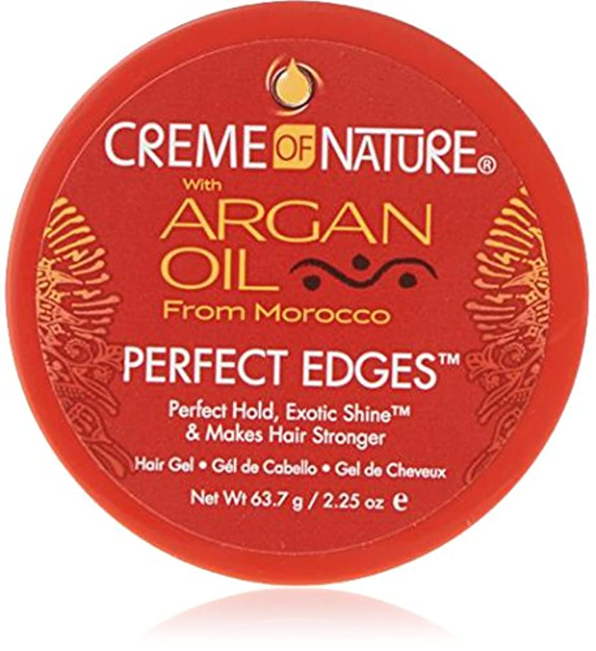 珍しい送料どんなときもCreme of Nature Argan Oil Perfect Edges Control 64g Jar (並行輸入品)