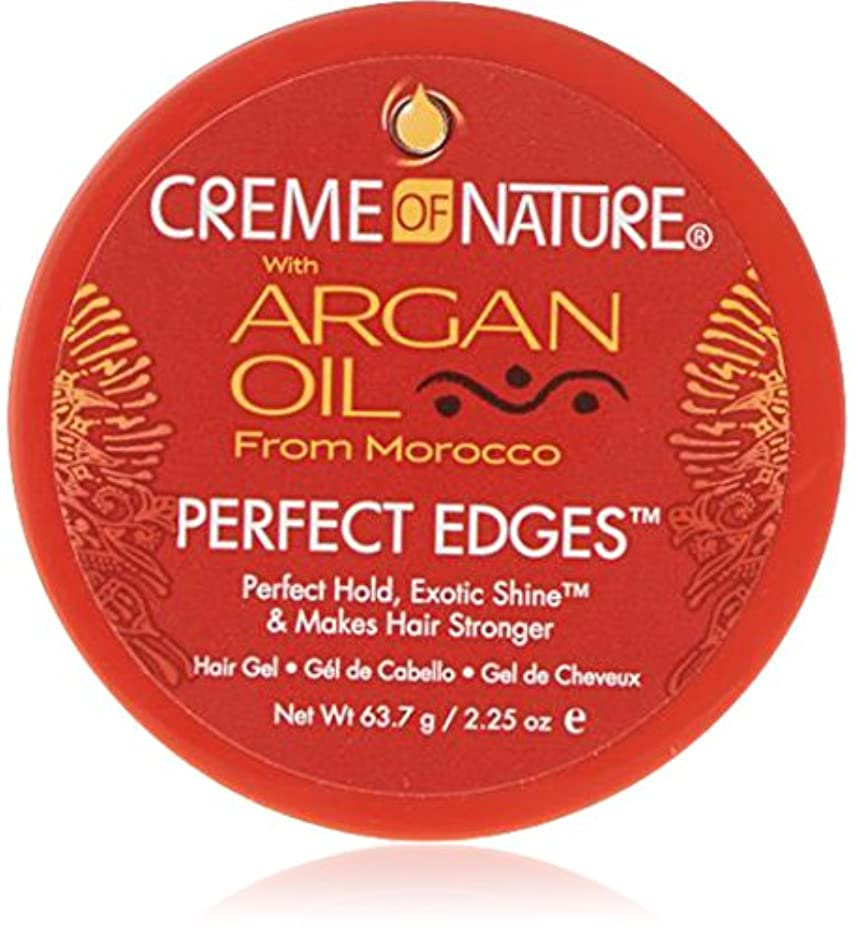 王族弱点完璧なCreme of Nature Argan Oil Perfect Edges Control 64g Jar (並行輸入品)