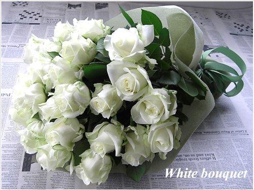 fleurcoco【フラワーギフト】 白バラの花束 10本 WhiteRosebouquet 花言葉『清らかな愛・尊敬・純粋』【誕生日プレゼント 結婚祝い 記念日】