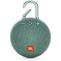 JBL CLIP3 Bluetoothスピーカー IPX7防水/パッシブラジエーター搭載/ポータブル/カラビナ付 ティール JBLCLIP3TEAL 【国内正規品/メーカー1年保証付き】
