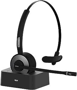 Bluetooth ヘッドセット 片耳 ハンズフリー 通話 音楽 最大19時間使用 トラック運転手/コールセンター/ビデオチャット/skype会議使用 bluetooth ヘッドフォン Android & iphone & PC &PS3対応 音質高 Yamay