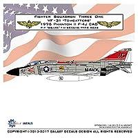 1/72 アメリカ海軍 F-4J ファントムII VF-31 トムキャッターズ 1976塗装 デカールセット
