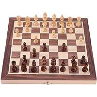 チェスセット 国際チェス 折りたたみ 磁石つき 木製 30/40cm Broadroot (30cm)