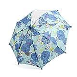 ampersand(アンパサンド) 雨の森柄窓付き傘 ブルー S