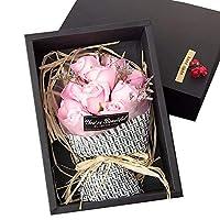 石鹸花 ソープフラワー バレンタインデー フラワー 枯れない花 11輪 ギフトボックス プレゼント 結婚祝い 誕生日 お祝い 母の日 就職祝い ギフト 贈り物 #3