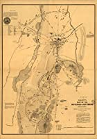 マップポスター–Elliott 's Map of the Battlefield of Gettysburg Pennsylvania 24X 17