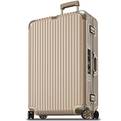 (リモワ) RIMOWA スーツケース キャリーバッグ TOPAS トパーズ ELECTRONIC TAG 924.77.03.5 [TSAロック 日本語取扱説明書 1年保証 付き] (98L(ゴールド))