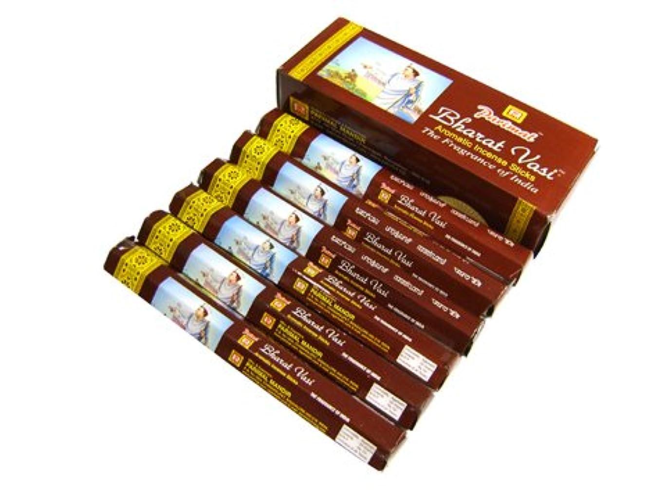 柔らかい足退屈させる繊維PARIMAL(パリマル) バラバシ香 スティック BHARAT VASI 6箱セット