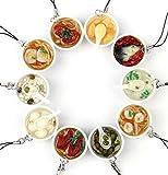 【10点セット】 おもしろ 食品 サンプル ストラップ キーホルダー 中華