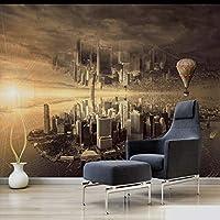 Xbwy カスタム3D壁画ドリームシティリビングルームのソファの背景壁紙シティ壁紙家の壁紙デザイン-400X280Cm