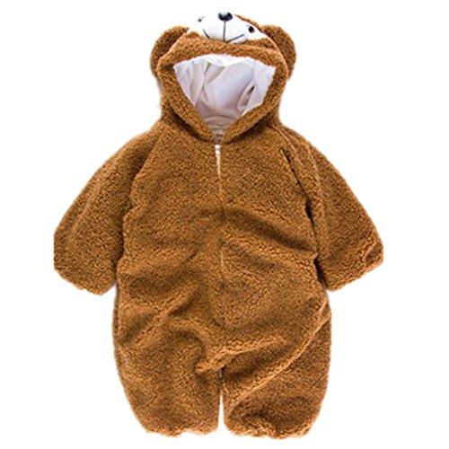 Honel 子供服 着ぬいぐるみ ベビー ロンパース もこもこ カバーオール かわいい キッズ コスチューム 防寒着 男の子 女の子 出産祝い プラワン 80cm