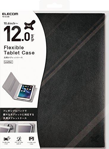 エレコム 10.6〜12.0インチ汎用タブレットケース レザータイプ /黒TB-12LCHBK1個