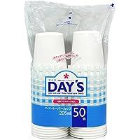 大和物産 使い捨てカップ ホワイト 205ml Day's ペーパーカップ 50個入