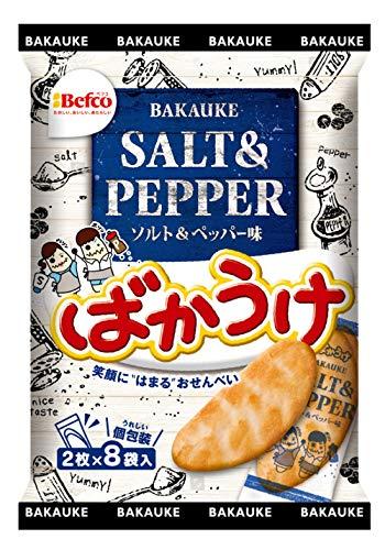 栗山米菓 16枚ばかうけ ソルト&ペッパー味 16枚入×12袋