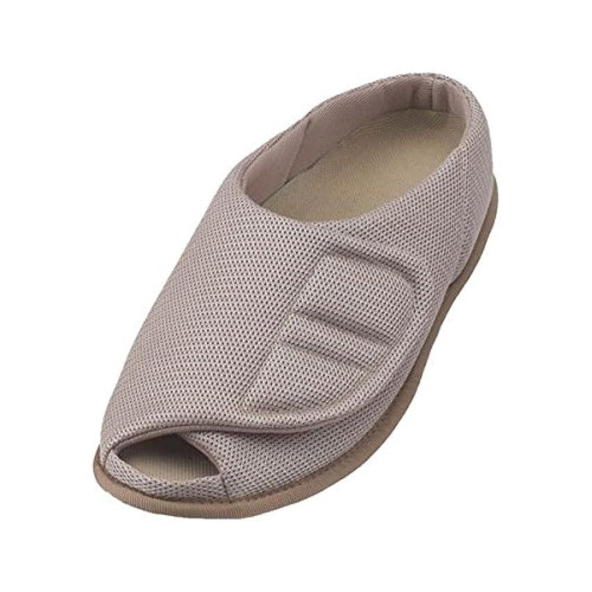 たぶんクスクスなだめる介護靴 室内用 オープンルームメッシュ 2228 両足 徳武産業 あゆみシリーズ /L (23.5~24.5cm) ベージュ ds-1444977