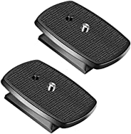 Neewer 2-Pack Black Quick Shoe QR Plate Tripod Head with Anti-Slip Rubber Pads for Neewer SAB264 and SAB234 Tr