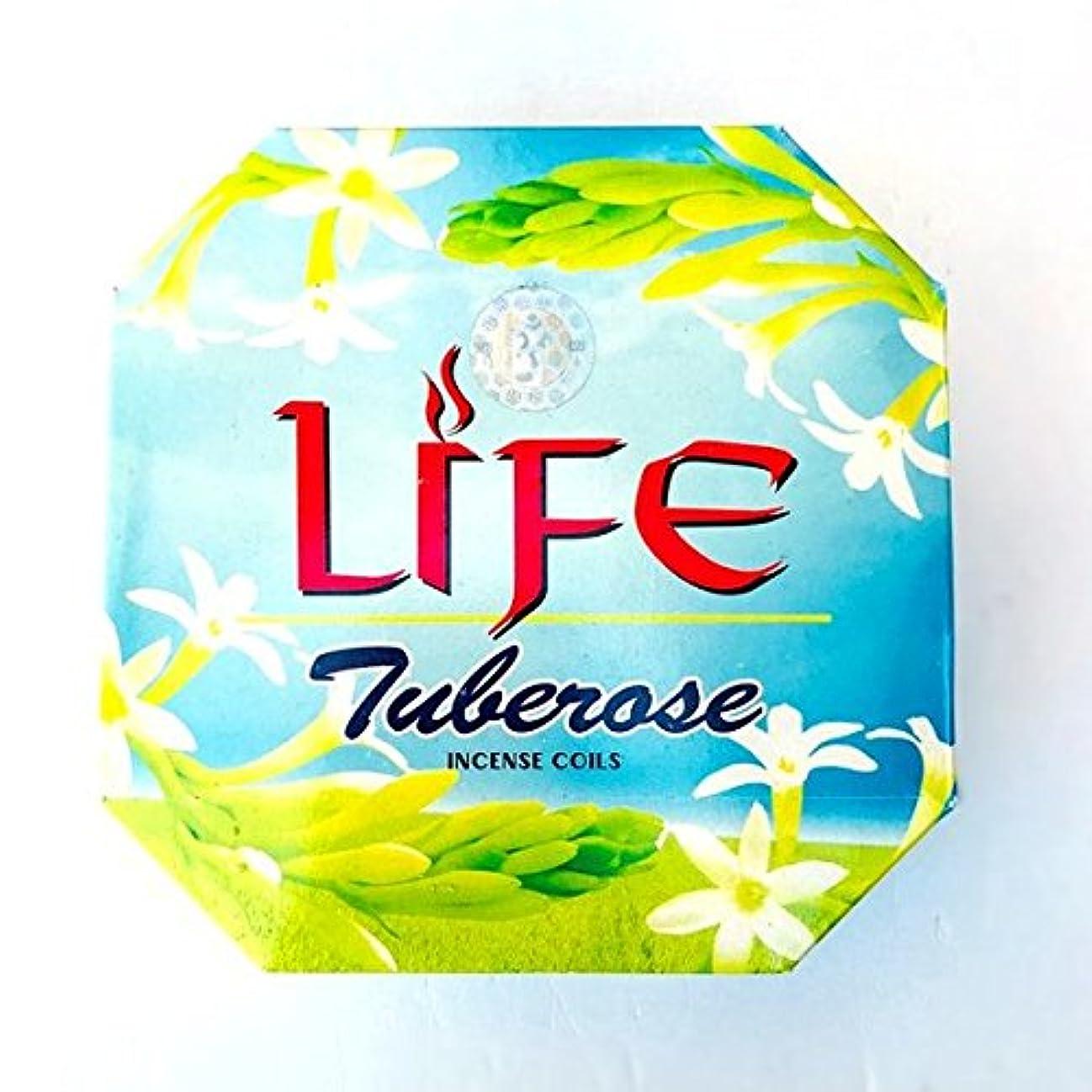 今まで出発フロントバリタイ お香 LIFE/TUBEROSE チューブローズ【月下香】渦巻き香