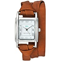 La Mer Collections Women's Quartz Metal and Leather Casual Watch, Color:Brown (Model: LMMILWOOD011)