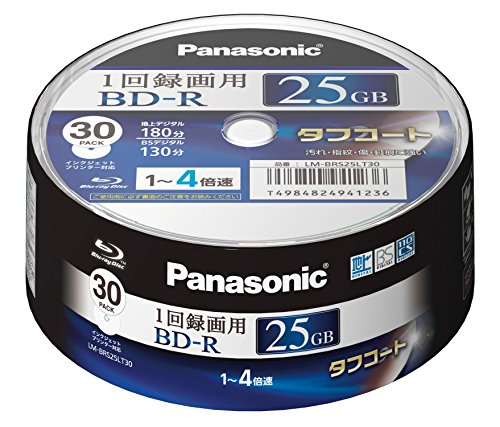 Panasonic ブルーレイディスク 日本製 録画用4倍速 25GB(単層 一回録画用) 30枚パック LM-BRS25LT30 -