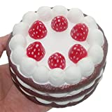 大きい 誕生日 ケーキ 超低反発 スクイーズ ままごと遊び 美味しさ 食品サンプルストレス解消 バースデ ギフト