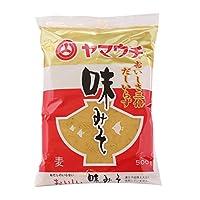 ヤマウチ 九州 熊本県 味みそ 500g だし入り 麦みそ