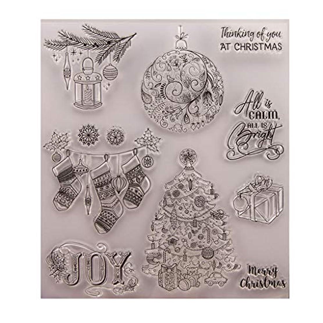 部分的に準拠セレナBaoyouls クリスマスギフト、クリアスタンプ、透明クリエイティブバッジ画像ラバースタンプシールDIYアルバムクラフトスクラップブックデコレーション、カレンダー