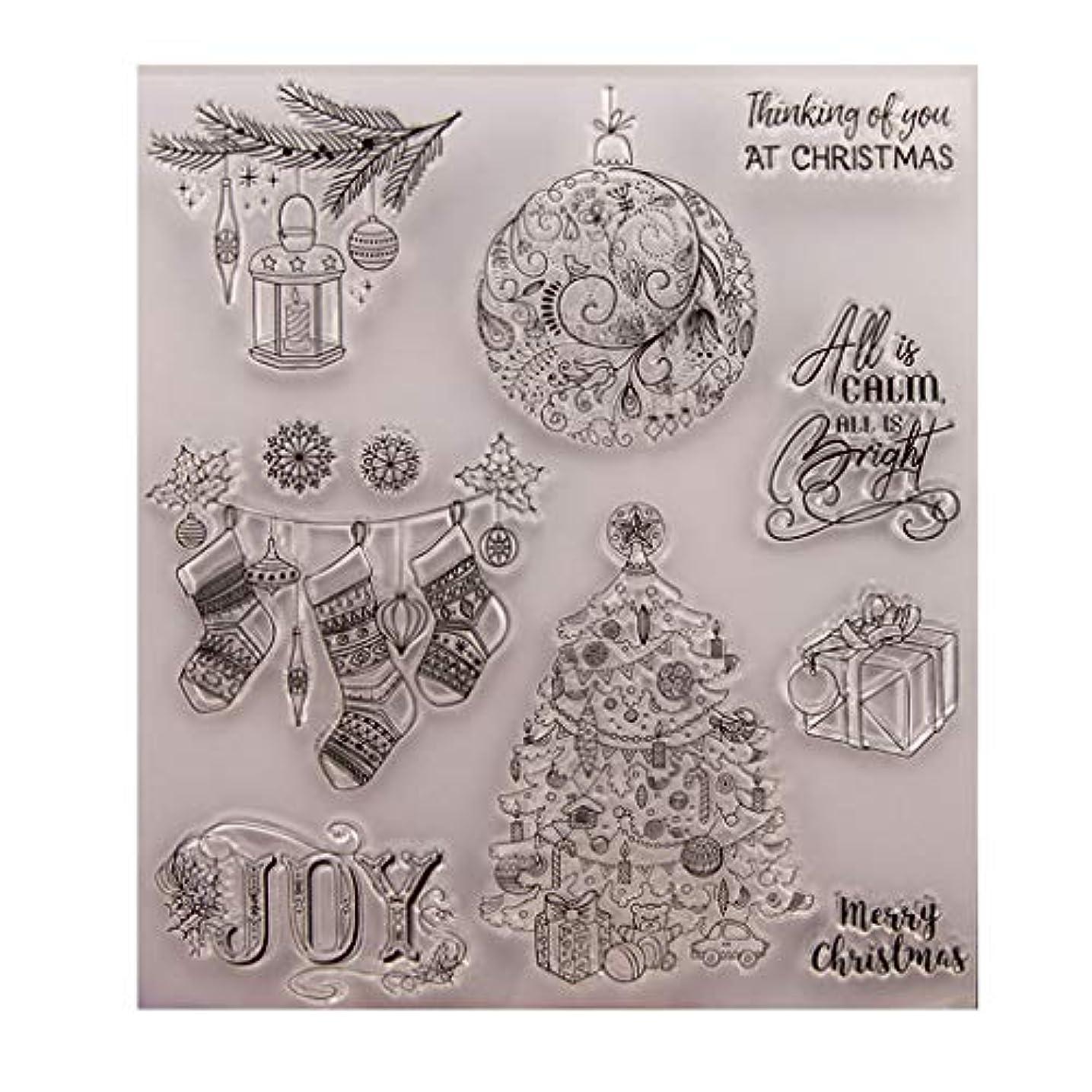 ヒント基準ここにBaoyouls クリスマスギフト、クリアスタンプ、透明クリエイティブバッジ画像ラバースタンプシールDIYアルバムクラフトスクラップブックデコレーション、カレンダー