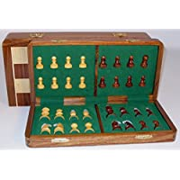 Folding Wood Magnetic Chess Set, 14 by Worldwise Imports [並行輸入品]