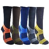安全靴 専用 ソックス 長靴用 摩擦に強い 抗菌防臭 メンズ 作業用 ソックス 25-27cm 日本製 16A-015 (ネイビー*ブルー)