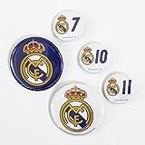 レアルマドリード(Real Madrid) オフィシャル 16-17 缶バッジ 5個セット RM31017