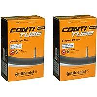 2本セット コンチネンタル Continental Compact20 Slim 20×1 1/8-20×1 1/4(28-406×32-451) 仏式チューブ 500×28A-500×32A [並行輸入品]