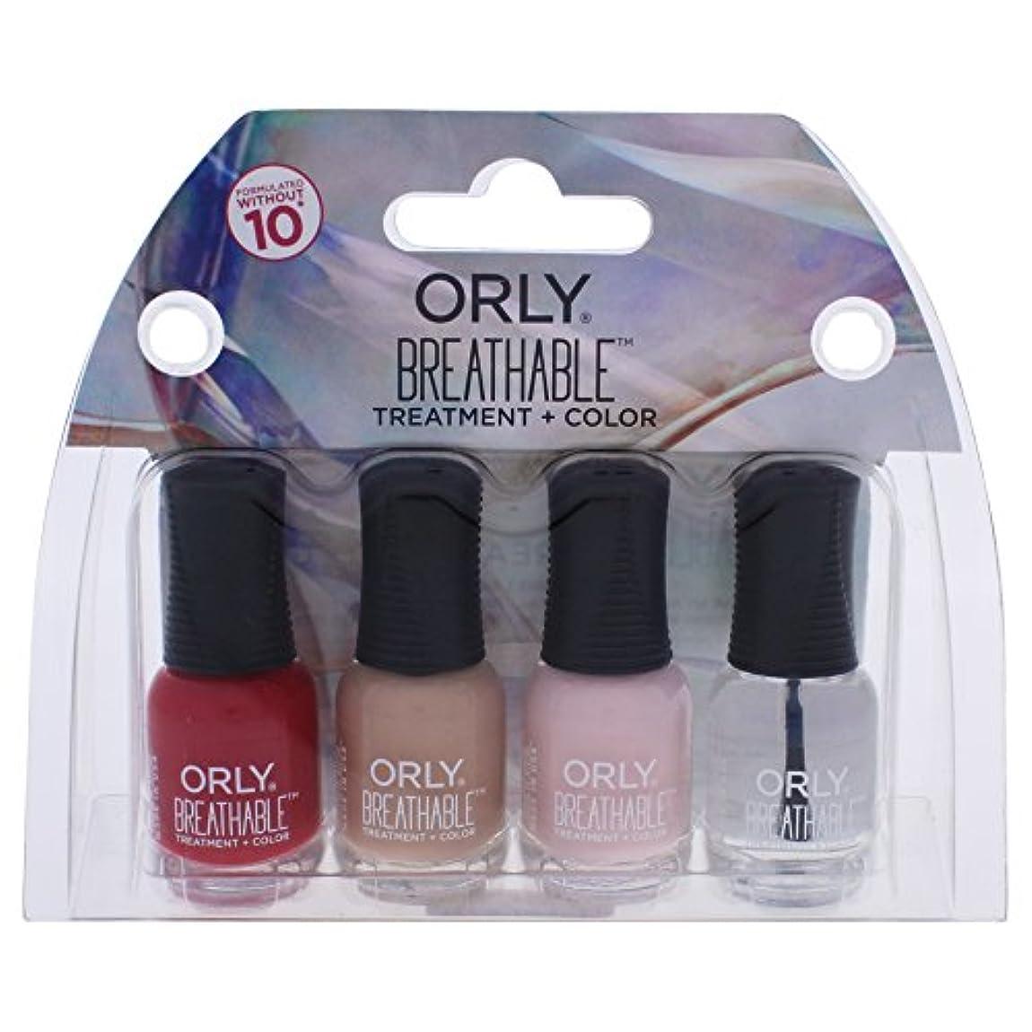 すずめ損傷化石Orly Breathable Nail Lacquer - Mini 4pc Kit #3 - 0.18oz / 5.3ml Each - 28903