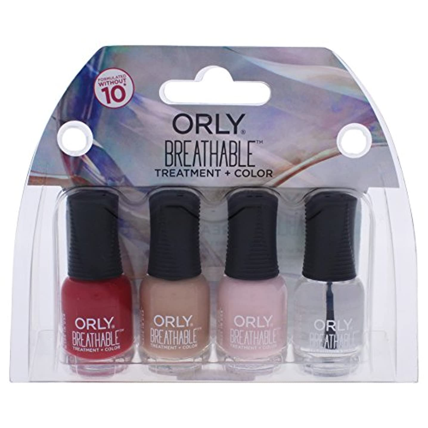 まっすぐにする驚くべき金属Orly Breathable Nail Lacquer - Mini 4pc Kit #3 - 0.18oz / 5.3ml Each - 28903