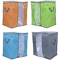 寝具収納袋学生寮織物竹収納ボックス48 * 28 * 50cmのキルト環境ダストと水分