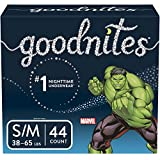 GoodNites Bedtime Bedwetting Underwear for Boys, S-M (38-65 lb), 44ct (Packaging May Vary)