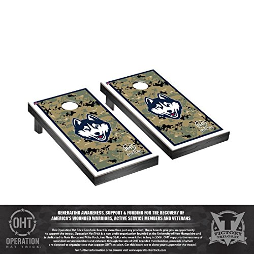 操作Hat Trick Connecticut UCONN HuskiesデスクトップCornhole Game Set Borderバージョン