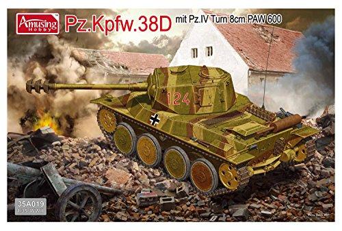 アミュージングホビー 1/35 ドイツ軍 38D戦車 8cm低圧砲PAW600型搭載  4号戦車砲塔  プラモデル AMH35A019